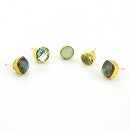 Gold Stud Earring Collection by La Isla Jewelry