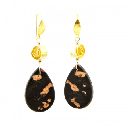 651202E Cherry Blossom Jasper Earrings by La Isla Jewelry
