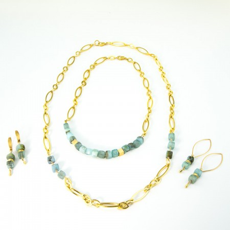 Peruvian Opal Gold Chain Collection by La Isla Jewelry