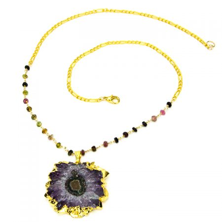 Amethyst Stalactite and Tourmaline Chain by La Isla Jewelry