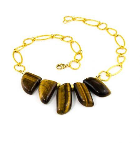 854277N Tiger Eye Necklace by La Isla Jewelry
