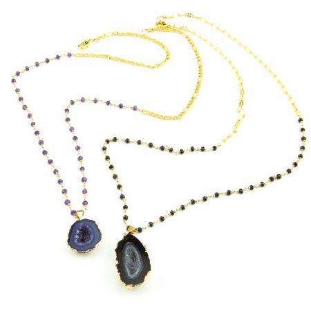 86312108N 86312109N Druzy Geode Pendant Chains by La Isla Jewelry