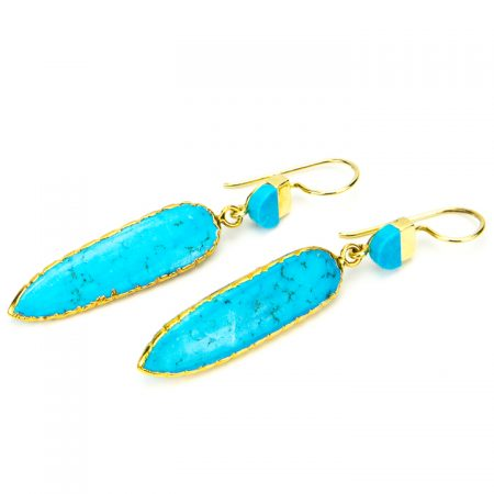 871201E Turquoise Dagger Earrings by La Isla Jewelry