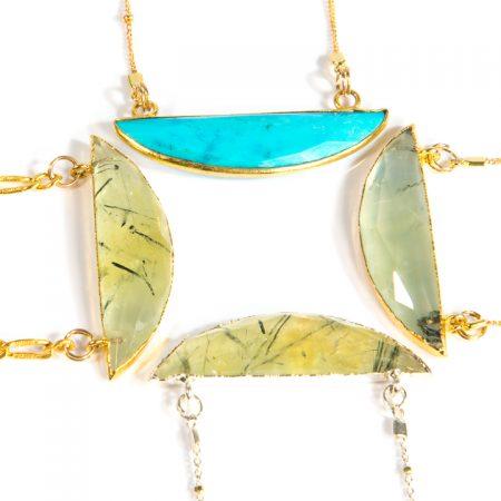 Half Moon Pendants by La Isla Jewelry