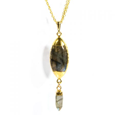 873210N Labradorite Pendant Close Up by La Isla Jewelry