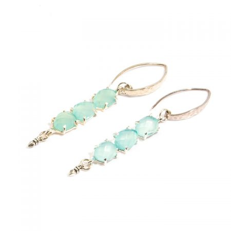 681119E SIlver Multi-Stone Chalcedony Earrings by La Isla Jewelry