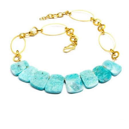 683204N Amazonite Collar Necklace by La Isla Jewelry