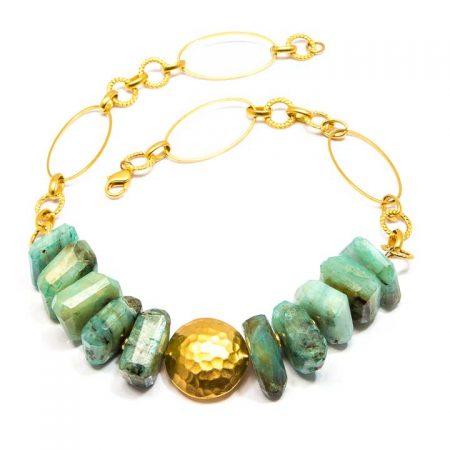 685202N Natural Peruvian Opal Necklace by La Isla Jewelry