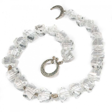 Clear Quartz Silver Necklace