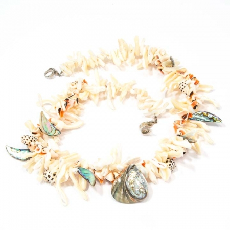 Off-White Mother-of-Pearl Lei