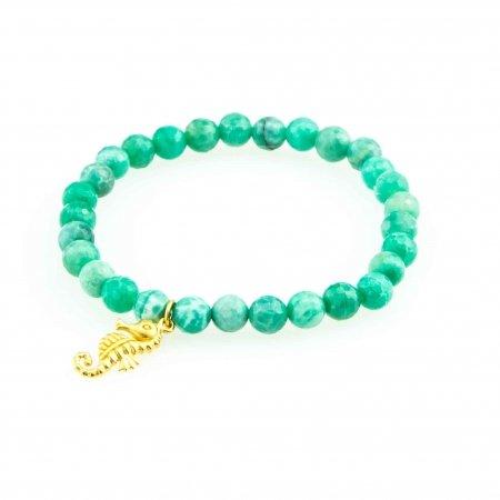 Green Agate Charm Bracelet