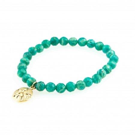 Green Amazonite Charm Bracelet