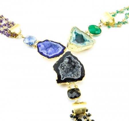 Geode Pendant Gemstone Chain Collection