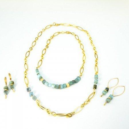 Peruvian Opal Gold Chain Collection by La Isla Jewelry