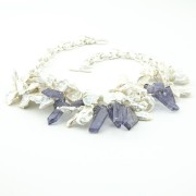 Keshi Pearl Iolite Necklace