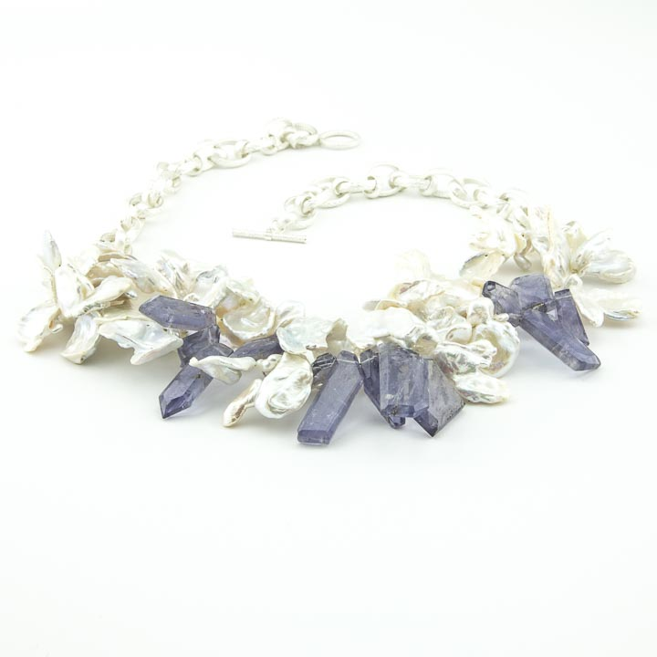 iolite necklace belle jewellery gold with products lulu halo pendant