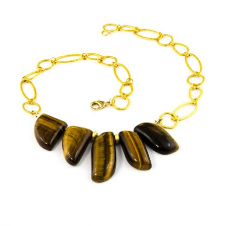 854277N Tiger Eye Necklace by La Isla Jewelry