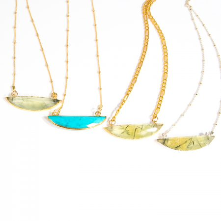 Half Moon Necklace Collection by La Isla Jewelry