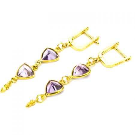 Amethyst Gemstone Earrings by La Isla Jewelry