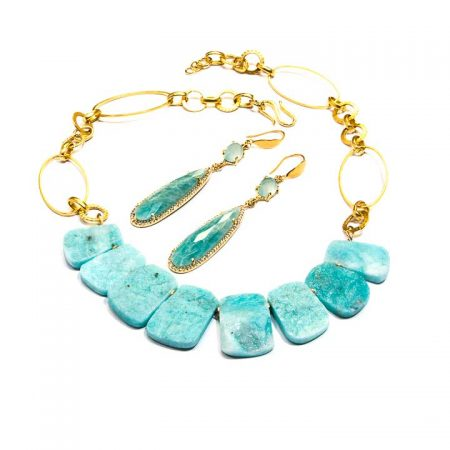 Amazonite Necklace and Earrings by La Isla Jewelry