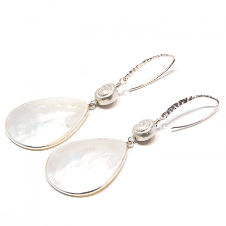 Mother of Pearl Sterling Silver Drop Earrings