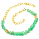 Chrysoprase Gold Chain Necklace