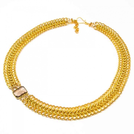 Cleopatra Style Gold Chain Maille Choker