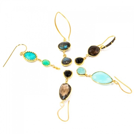 Contemporary Gemstone Earring Collection by La Isla Jewelry