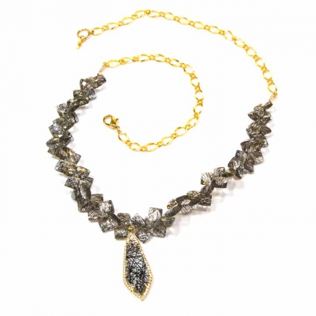 Tourmalated Quartz Pendant Necklace