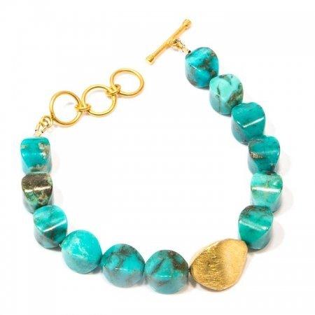 Turquoise Gold Clasp Bracelet