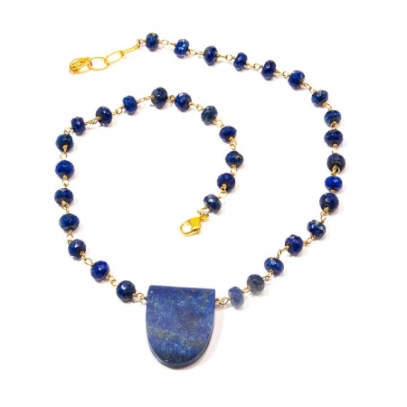 Blue Lapis Chain Necklace